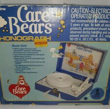 Vintage Care Bear ReCord Player 45s WORKS phonograph