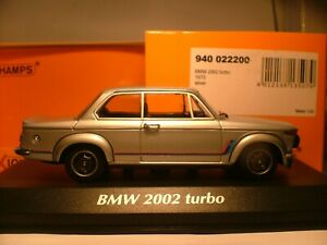 WOW EXTREMELY RARE MAXICHAMPS 1/43 1973 BMW 2002 TURBO OUTSTANDING DETAIL NLA