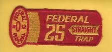 "Vintage Federal Shotgun 25 Straight ""Yellow"" Trap Shooting patch"