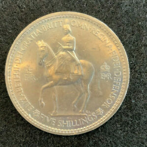 Rare 1953 5 shilling collectable coin in case vintage & Uncirculated