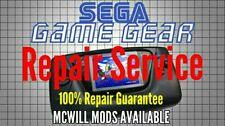 Sega Game Gear Repair CAPACITORS AND GLASS SCREEN Free Return Shipping