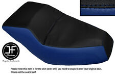 BLACK ROYAL BLUE AUTOMOTIVE VINYL CUSTOM FITS HONDA HELIX CN 250 DUAL SEAT COVER