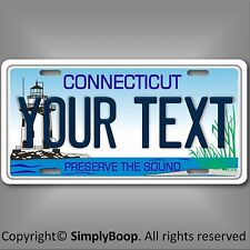 Connecticut State License Plate Tag Personalized Custom Preserve The Sound New