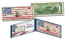 GOD BLESS AMERICA Patriotic USA Flag Art Genuine Legal Tender Official $2 Bill