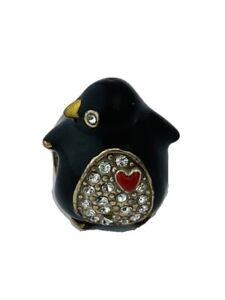 Brighton Tobey Penguin Stopper, J95172, Silver, Enamel Finish/Crystals,  New