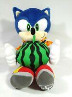 """Sega Joypolis Tropical Sonic the Hedgehog Plush Doll Toy UFO Japan BIG 14.5"""""""