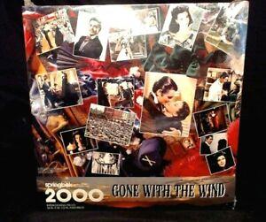 1995 GONE WITH THE WIND 2000 PIECE PUZZLE, SPRINGBOK BY HALLMARK, SEALED MIB