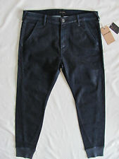 True Religion Runner Relaxed Pants/Sweats- Indigo -Coated Blue-Size 36-NWT-$198