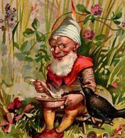 c 1892 LIEBIG S-345 THE GNOME Fantasy Woodland Life Set 6 Victorian Trade Cards