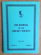The Journal of the Cricket Society Vol 15 No 2 Spring 1991