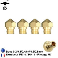 Buse MK10 0.2/0.3/0.4/0.5/0.6/0.8mm - M7 - Filament 1.75mm Imprimante 3D Nozzle