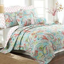Mirage Paisley 3-Piece Reversible Quilt Set, Bedspread, Coverlet