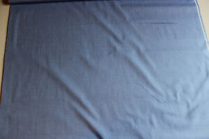 Stoffrest: 3,40 m Blusen- Hemdenstoff, hell-blau, Br: ca. 145 cm, Mat:  BW - PE