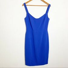 Black Halo Vista Sweetheart Sheath Dress, blue/purple, size 10, NEW, B18 ($375)