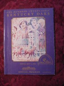 121st Kentucky Oaks Horse Racing Churchill Downs Official Program May 5 1995