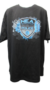New Monster Jam N.E.A. new Earth Authority Mens Size 2XL Black Shirt