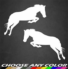 Horse Pony Jumping Car Truck Window Decal Sticker Trailer Vinyl Graphics