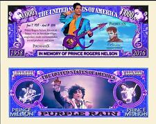 Prince Commemorative Million Dollar Bill