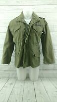 Vtg US ARMY Military Cold Weather FIELD Jacket Coat Hooded M-65 Small 4/14