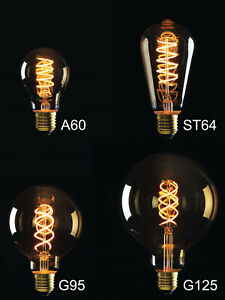 E27 A60 LED Vintage Retro Edison Filament Glühlampe Glühbirne Alt Klassisch