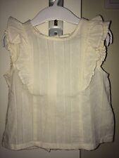NEU OVP Romantische Bluse Tunika Shirt H&M Gr. 86 Rüschen Vintage Boho Hochzeit
