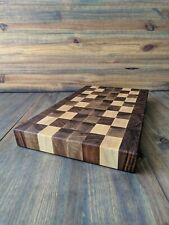 """End Grain Cutting Board  Walnut Maple 18""""x10.5""""X1.75"""" no handles"""
