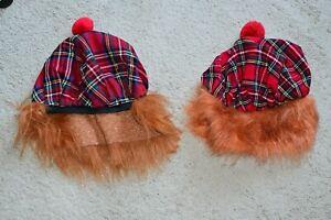 """2xTartan """"Jimmy"""" Hats, ideal for fancy dress or football!"""