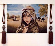 """Gobelin Tapestry Bild Wandteppich Teppich """"Eine Östliche Schöncheit"""" 92x64cm"""