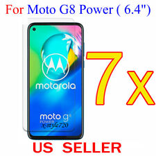7x Clear LCD Screen Protector Guard Cover Film For Motorola Moto G8 Power (2020)