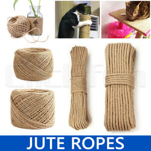 Hemp Soft Jute Rope Twine Sisal String Cord Art Gift Bottle Craft 2 3 5 10mm AU