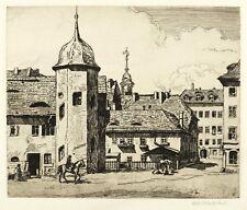 DRESDE-Jägerhof-Otto Westphal-Gravure 1912
