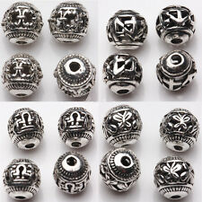 Wholesale 10/20Pcs Tibetan Silver Round Beads Hollow Out Spacer Loose DIY 8mm