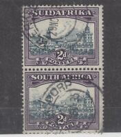 South Africa 1930 2d Pair Airship Flaw SG44d Fine Used JK1678