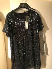 Lipsy Sequinned Dress Size 16 Brand New