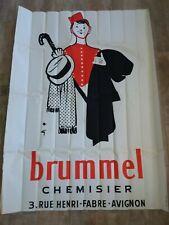 Affiche publicitaire 1975/CHEMISIER BRUMMEL AVIGNON/Lithotyp Roquevaire /120x160