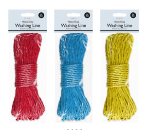 Heavy Duty Washing Line 25m rope dryer clothes nylon garden uk tie down