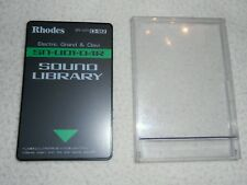 RHODES ROLAND CARD SOUND LIBRARY SN-U01-04R ELECTRIC GRAND & CLAVI U20,D70,MV30