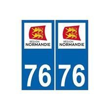 76 Seine Maritime autocollant plaque immatriculation Normandie nouveau logo stic