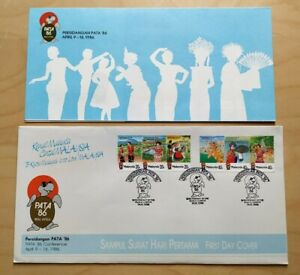 1986 Malaysia PATA '86 Conference Culture Costume Dance FDC (KL postmark) Lot A