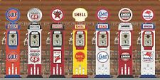 VINTAGE TOKHEIM GAS PUMPS WHOLE WALL SCENE MURAL SIGN BANNER GARAGE ART 6' X 12'