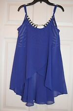 Double Zero Womens Sheer Bandeau Tank Tunic with built in bra - New Size L Large