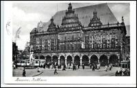 BREMEN ältere Postkarte AK 1955 Trubel vor Rathaus
