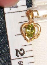 Peridot Hawaiian Hawaii Pendent Yellow 14K solid gold