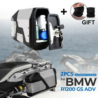 Stainless Tool Box Waterproof For 2004-2020 BMW R1200GS LC Adventure R1250GS ADV
