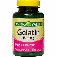 Spring Valley Gelatin Capsules Pills 1300 mg, 100 count