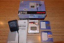 AIWA F65 Minidisc MD + Sony MD  (449) Silber . + Sharp Netzteil + AL
