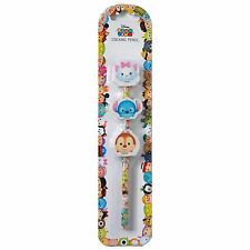 Official Disney Tsum Tsum Pencil with 3 Stacking Erasers Stationery Marie Stitch