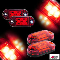 2x 12v 4 Smd Led Side Tail Marker Red Lights Trailer Caravan Truck Van Dot