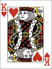 King of Hearts Playing Card 9 x 12 inch Needlepoint Canvas