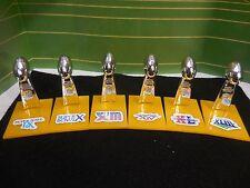 Pittsburgh Steelers Mini Lombardi Trophy Set Mcfarlane/Pocket Pro